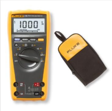 2 Fluke 175 Digital Multimeter with free C25 soft carrying case