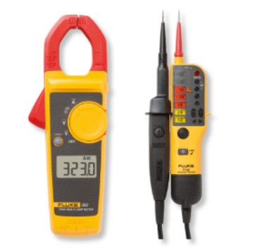 4 Fluke 323 Clamp Meter with a Fluke T110 Two pole Voltage and Continuity Tester in one very attractive kit
